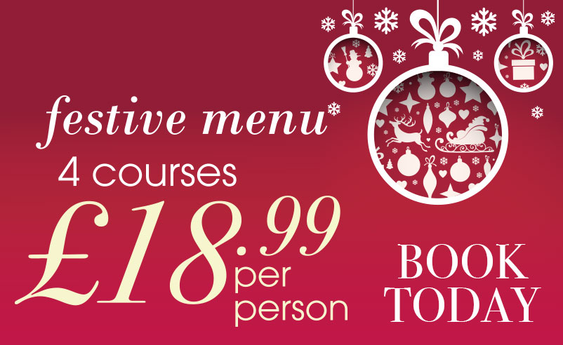Click here to view our Festive Menu