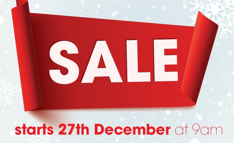SALE starts 27th December at 9am